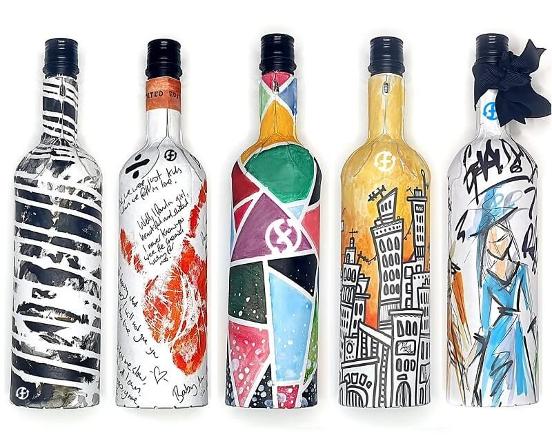 Recycled-paper wine bottles